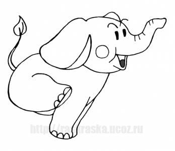 Раскраска прыгающий слон - 12 Октября 2009 - Детские ...