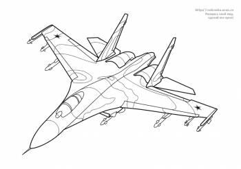 Раскраска самолет Су-27 Flanker - 30 Мая 2011 - Детские ...