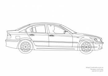 Раскраска легковая машина БМВ/ BMW - 23 Мая 2011 - Детские ...