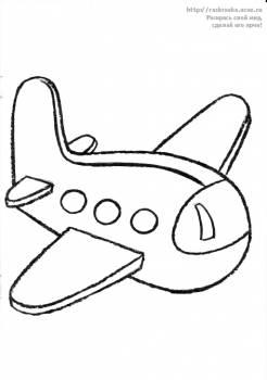 Раскраска самолет / Посмотри и раскрась - 7 Октября 2011 ...