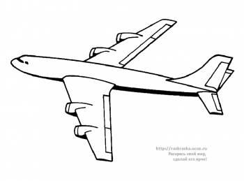 Раскраска летящий транспортный самолет - 25 Марта 2010 ...