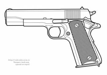 Раскраска пистолет - 3 Марта 2010 - Детские раскраски ...