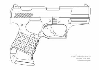 Раскраска боевой автоматический пистолет - 2 Марта 2010 ...