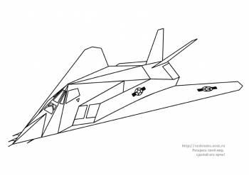 Раскраска самолет-невидимка F-117 - 4 Мая 2010 - Детские ...