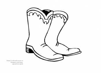 Категория раскраски обувь одежда